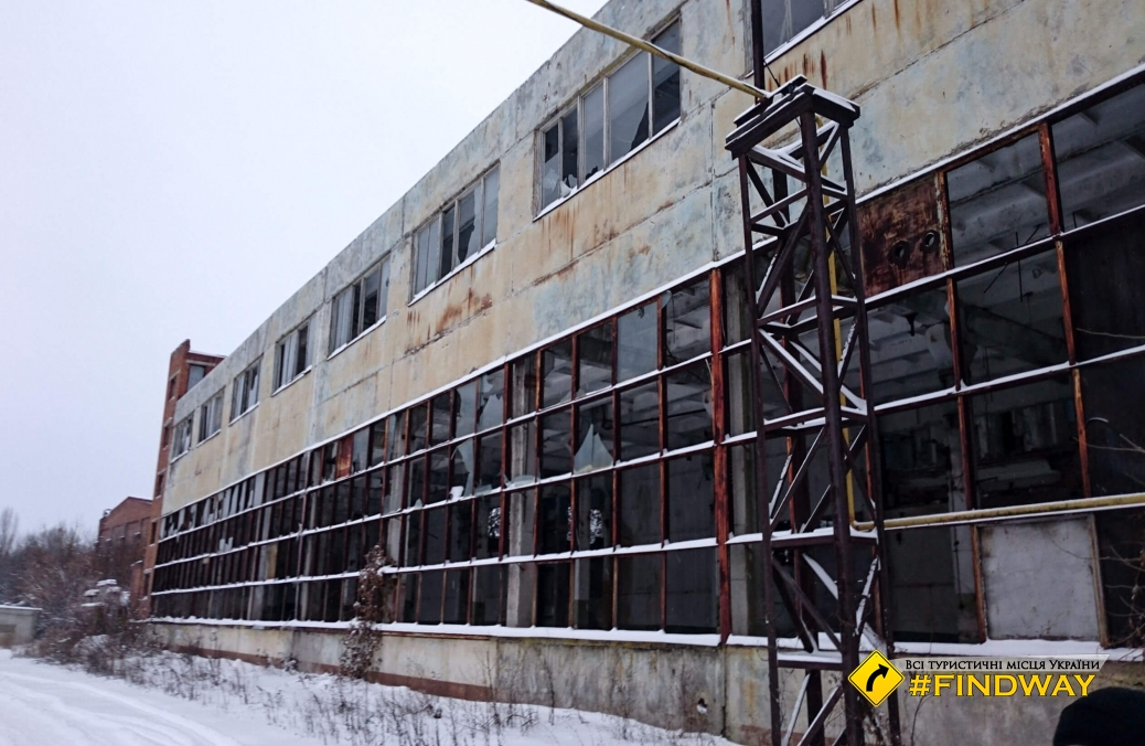 Abandoned buildings of refinery factory, Sumy