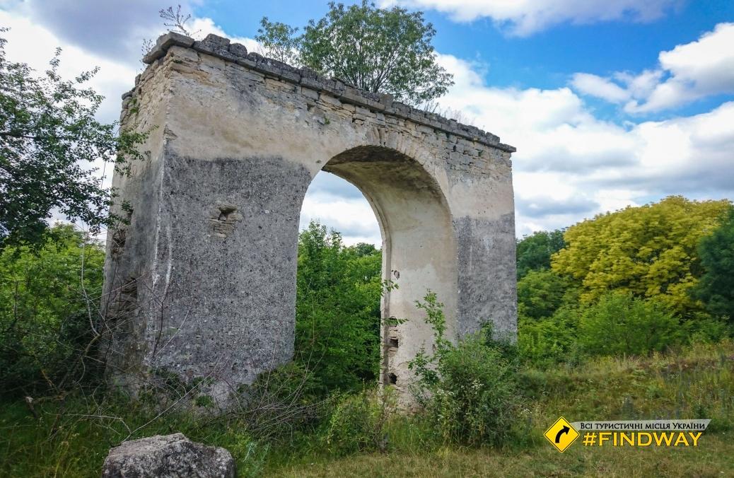 Old gate in Otrokovsky castle