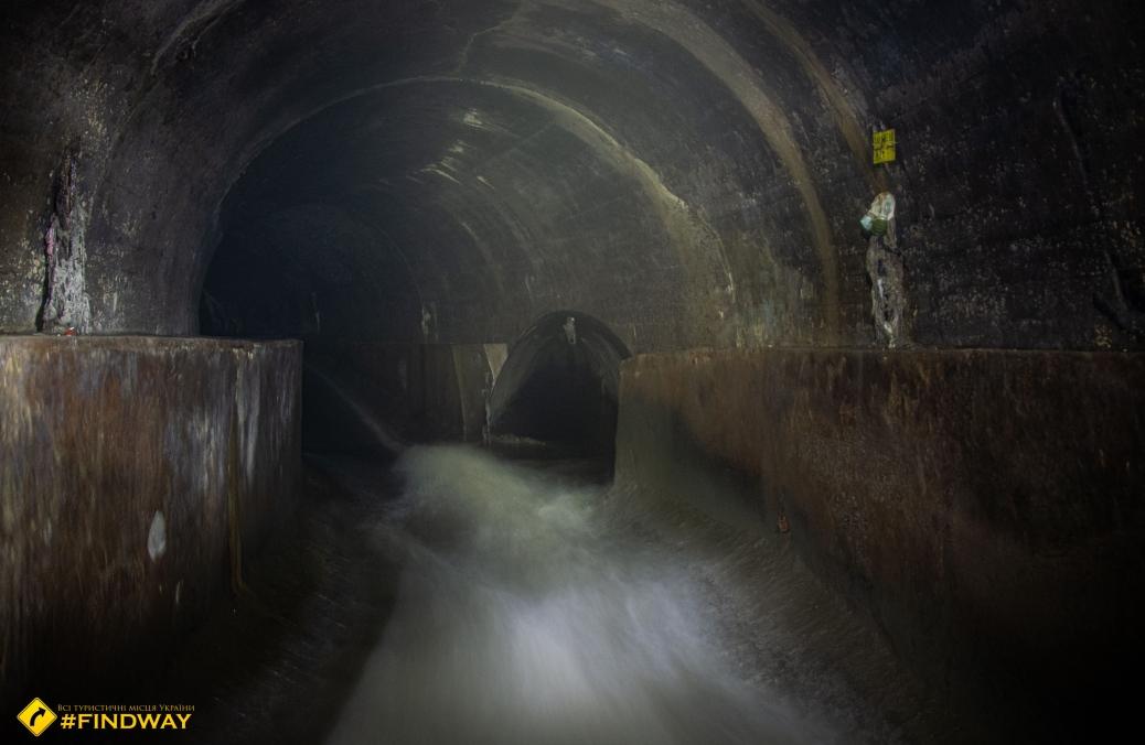 Underground river Poltva, Lviv
