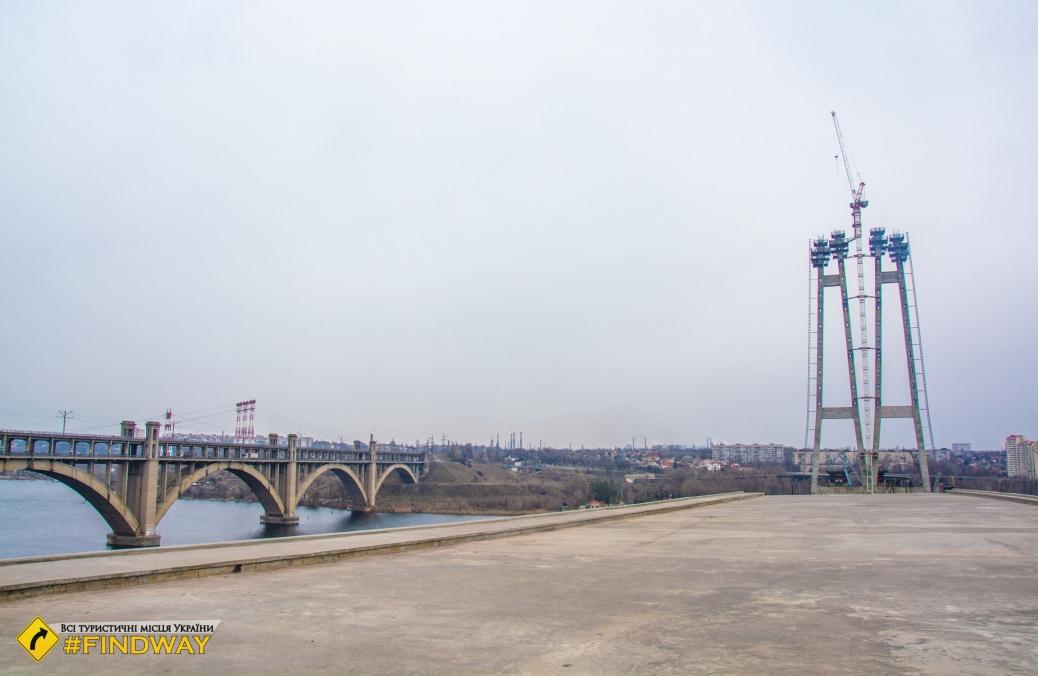 Недобудований новий міст, Запоріжжя