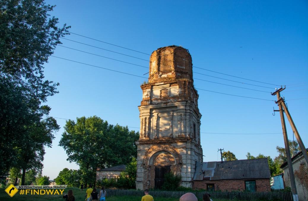 Заброшенная колокольня Спасо-Преображенской церкви (1883г), Мирополье