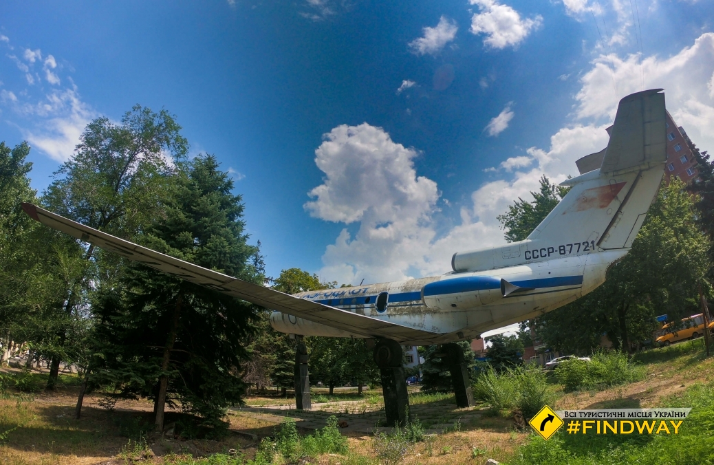 Monument to jet Yak-40, Slovyansk