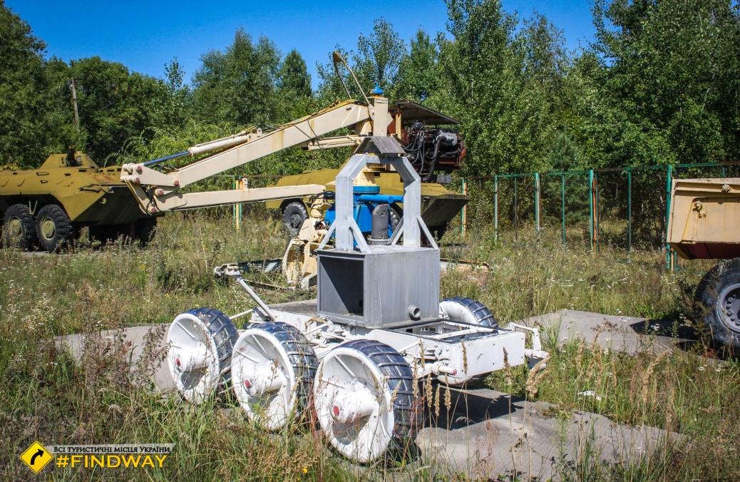 Експозиція техніки ліквідаторів, Чорнобиль