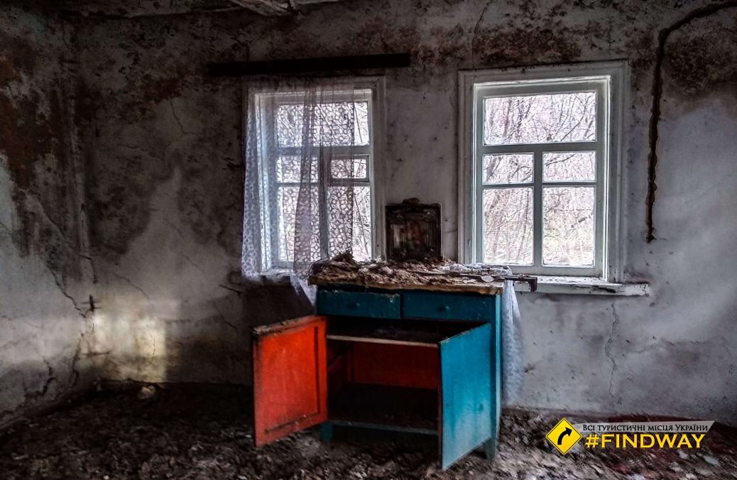 Abandoned village Chervonosiv