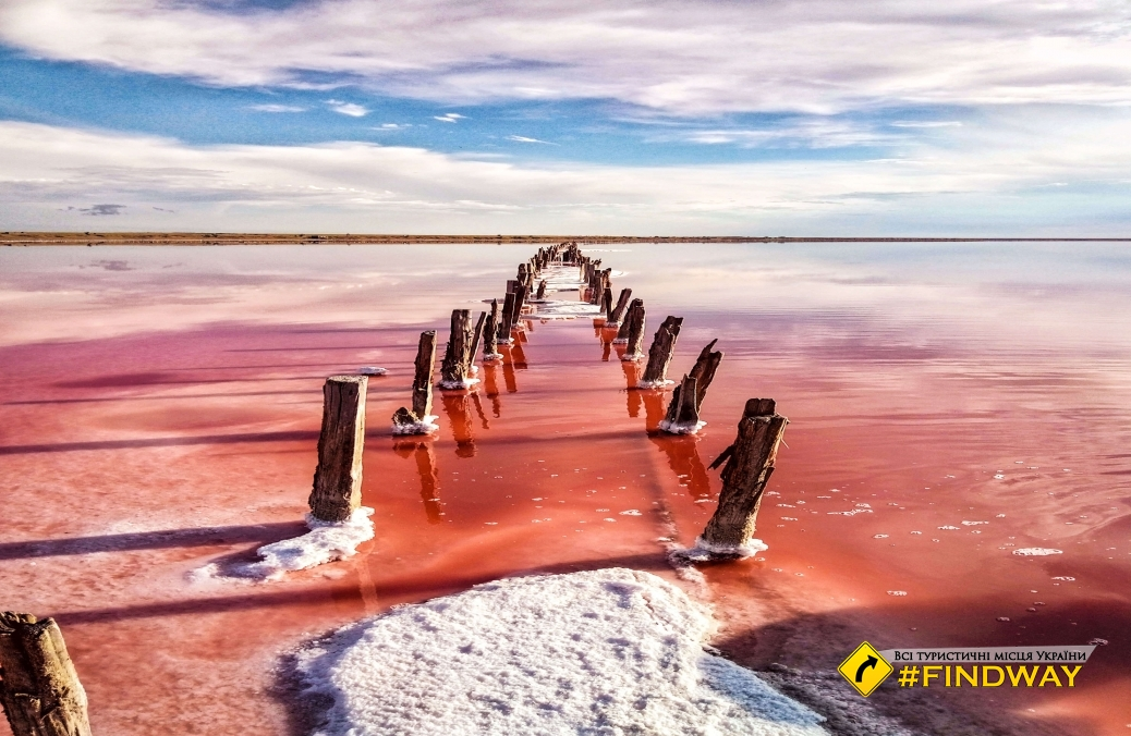 Pink lake (Genichesk lake), Arabatska arrow, Genichesk