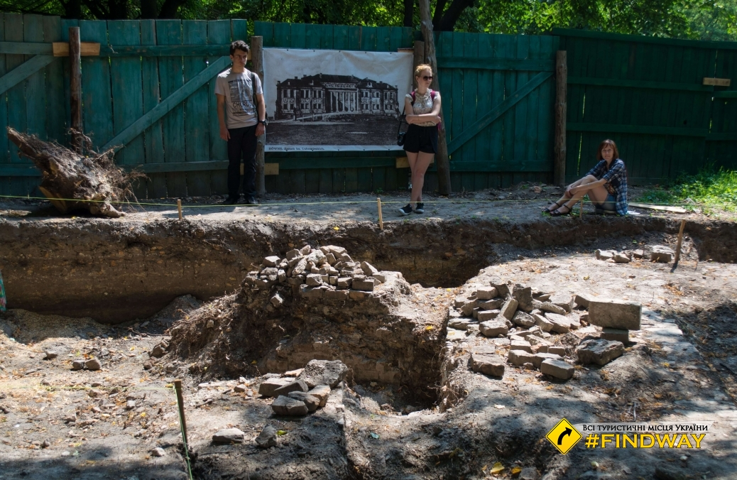 Excavation of the palace of Prince Lubomirski, Rovno