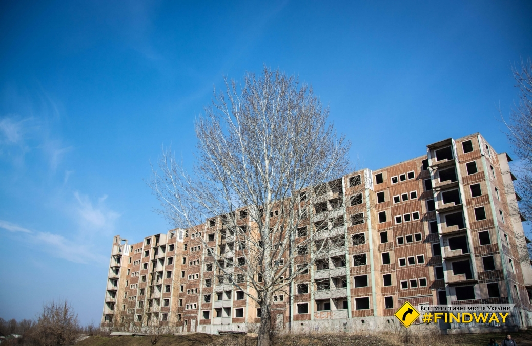 Unfinished 9 floor apartment building, Izum