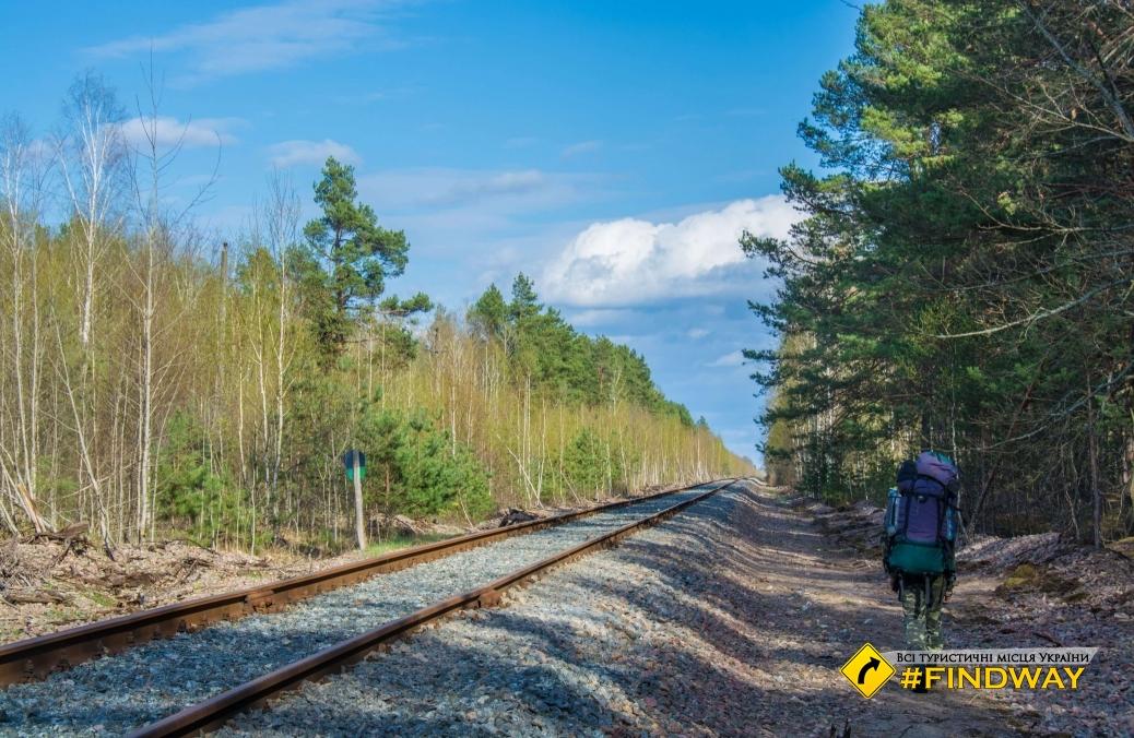 Заброшенная железная дорога Припять-Овруч