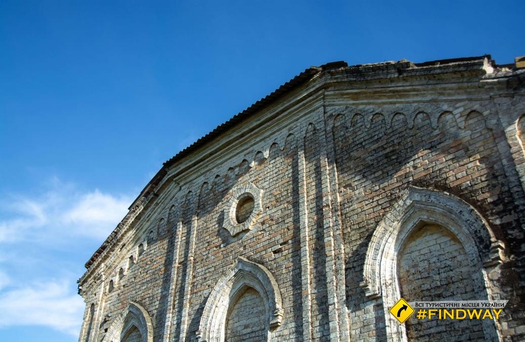 Католический костел (руины), Медведевка