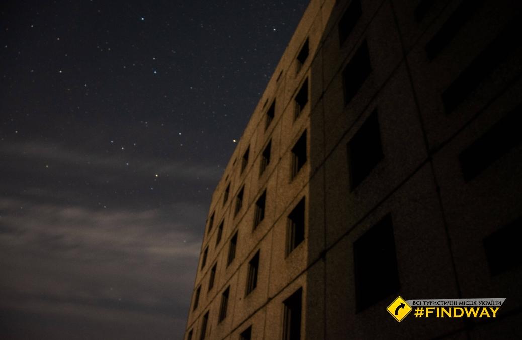 Покинуті дев'ятиповерхівки в Борках (Недобудована атомна електростанція)