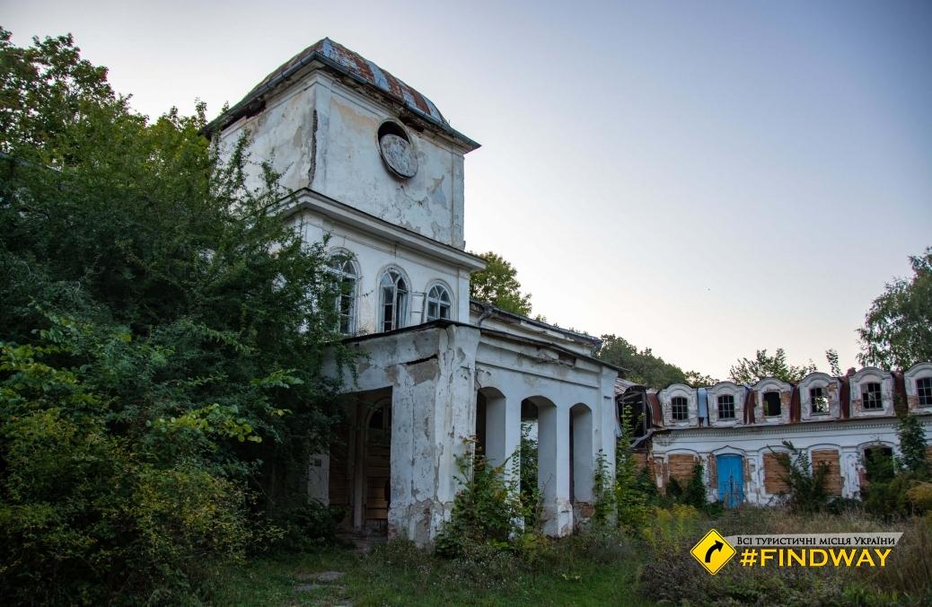 Заброшенный дворец Муравьевых-Апостолов, Хомутец