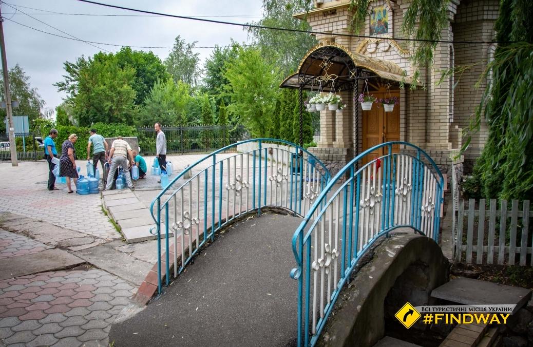 Kirichenko krynica - holy spring wells and bath of Peschansky God's Mother, Izum