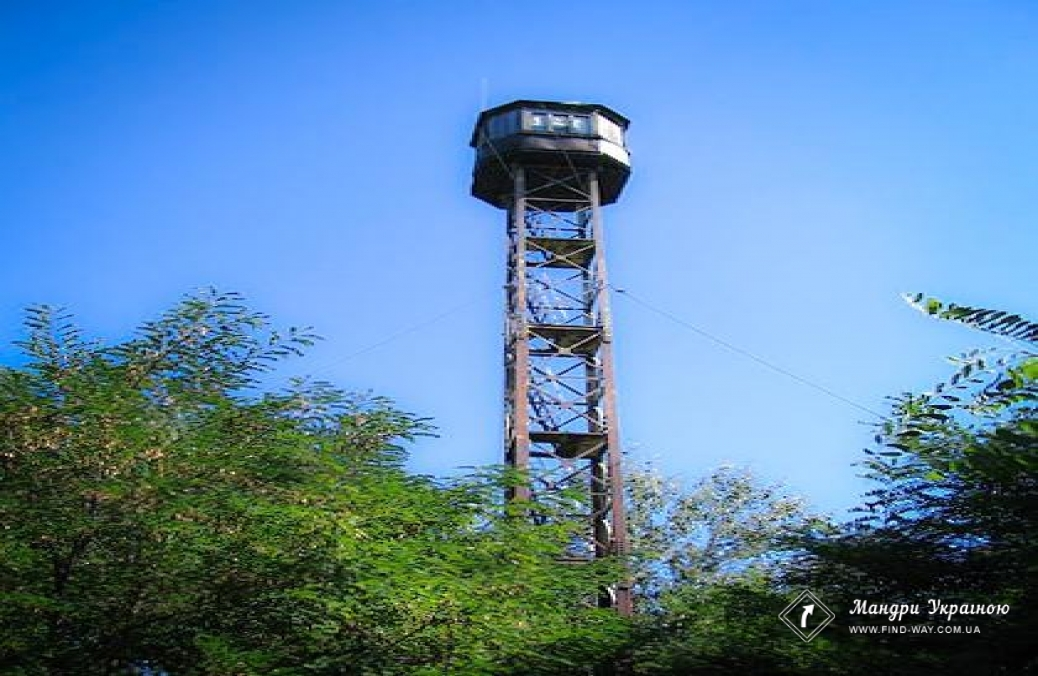 Fire lookout tower, Zmiiv cliffs (kruchi)