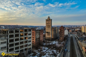 Abandoned elevator (Kharkiv, South Railway Station)