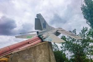 Monument of jet MiG-23, Limanske