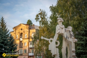 Unfinished fairytale singing fountain, Kryvyi Rih