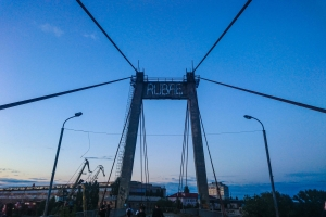 Abandoned Fisherman cable-stayed bridge, Kyiv