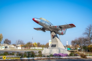 Monument to aircraft L-29, Vovchansk