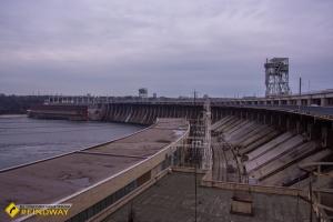 Дамба Днепровской ГЭС, Запорожье
