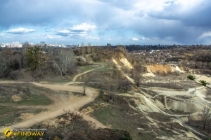 The observation point and motocross track, Kharkiv