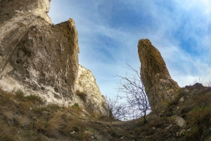 Cretaceous rocks of Bilokuzminovka (Rock-like buckling of the upper chalk), Kramatorsk