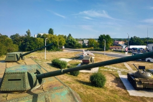 the museum military equipment under the open sky, Kaniv