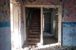 Abandoned tuberculosis dispenser, Pivdenne