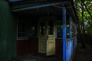 Abandoned village Korogod, Chernobyl exclusion zone