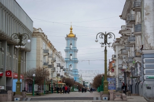 Independence Square and pedestrian street Soborna, Sumy