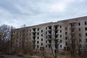 Unfinished 9-floor building, Trostyanets