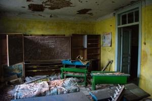 Abandoned school, Tovstiy Lis