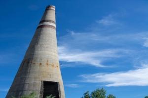 Остатки недостроенного Чигирина АЭС