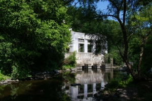 The ruins of the Butskaya HPP, Buky