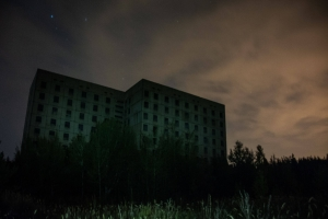Deserted buildings, Borki (Unfinished nuclear power plant)