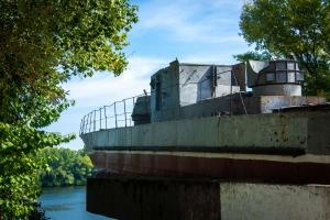 Monument to armored ship, Dniprovska embankment, Kaniv