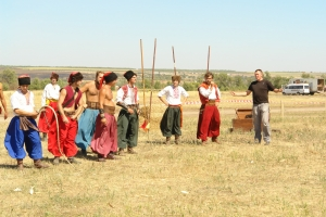 """The horse theater """"Zaporizhski Cossacks"""", Khortitsa island"""