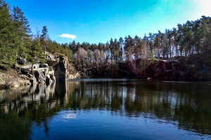 Korostyshivskiy quarry (flooded granite quarry), Korostyshiv