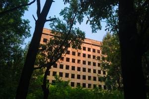 Недобудована лікарня, Московський проспект, Харків