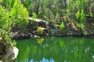 Korostyshivskiy quarry (flooded granite quarry), Korostyshiv