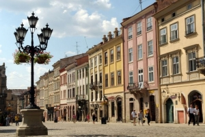 The Rynok Square of Lviv