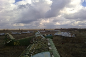 Abandoned airfield of Volchansk training center