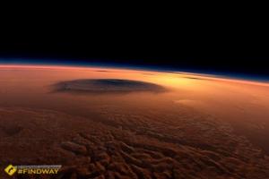 Вулкан Олимп, Марс
