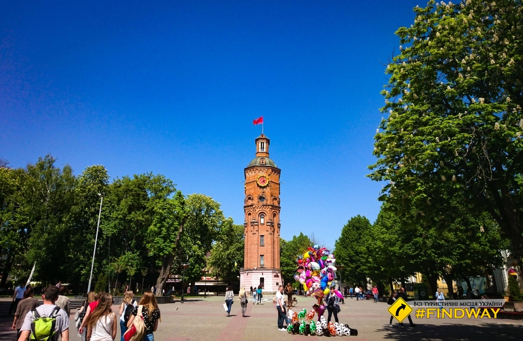 Водонапорная башня, Европейская площадь, Винница