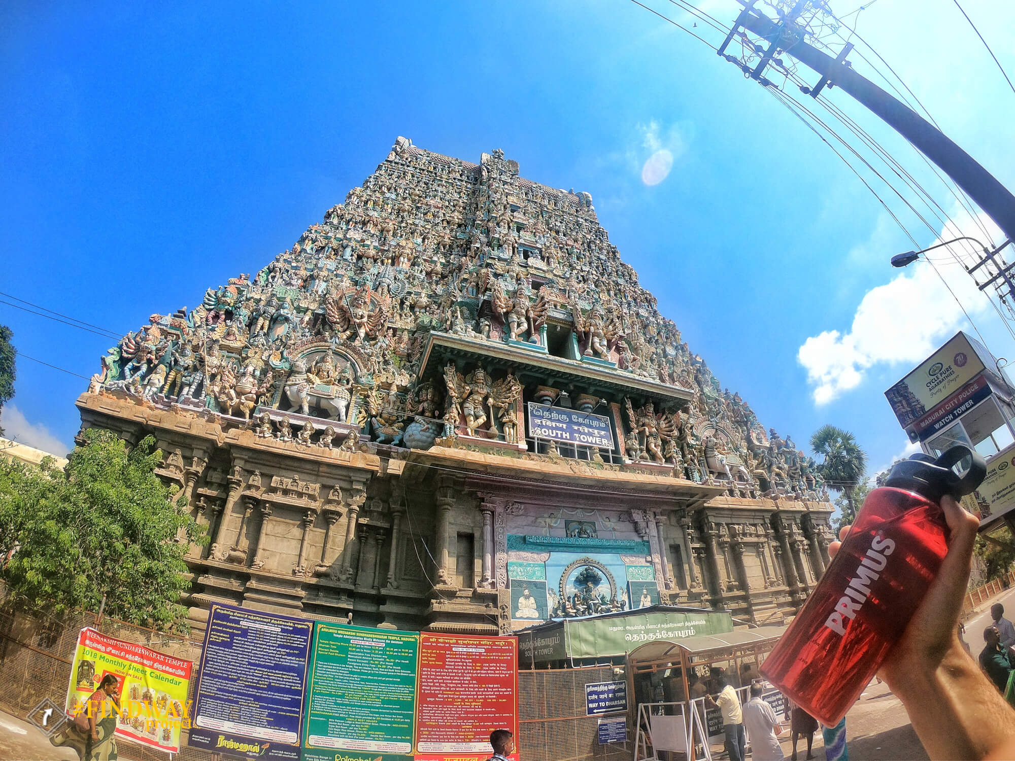 madurai old temple photo india primus bottle